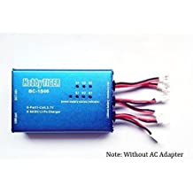 HobbyTiger BC-1S06 6 Port 1S 3.7V 500mA Li-Po Battery Balance Charger by OKSTATION