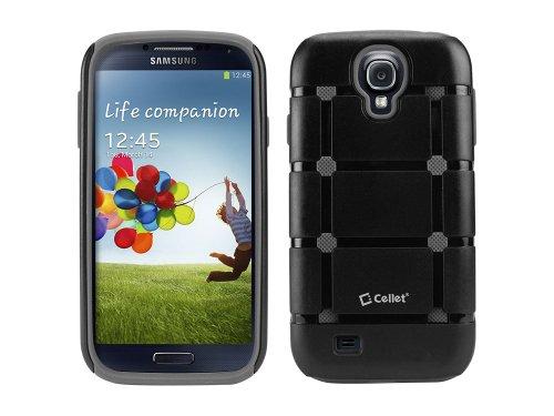 Cellet Rubicon Armor Dual Layer Case for Samsung Galaxy S4 - Black/Gray