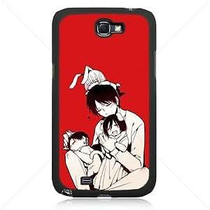 Shingeki no Kyojin Attack on Titan Manga Anime Comic Samsung Galaxy Note 2 II N7100 TPU Soft Black or White case (Black)