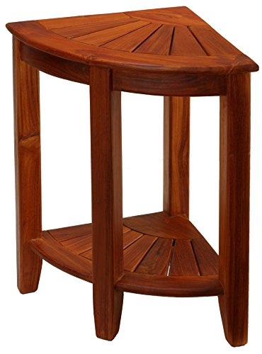 Bare Dcor Elana Corner Shower Stool, 24