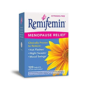 Gut Health Shop 41cHen2i3xL._SS300_ Enzymatic Therapy Remifemin Estrogen-Free Menopause Relief, 120 Tablets