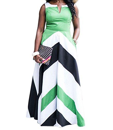 shekiss Women's Casual Sexy Bodycon Long Party Stripes maxi dress For Club (Wholesale Women Dresses)