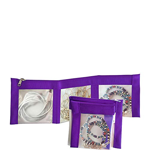 Flanabags ClearPack Pockets - Jewelry Organizer (Nylon Violet)