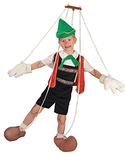 Faerynicethings Child Size Pinocchio Puppet Costume - Medium 8-10