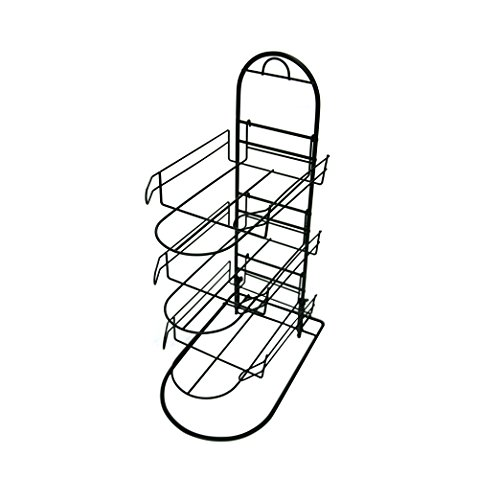 Half Round Wall Rack (Counter Hat Display with 3 Pockets for Displaying upto 24 Hats, Caps or Similar Types of Headwear)