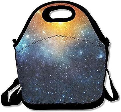 Galaxy Elements of This Image Furnished by NASA - Fiambrera de neopreno aislada con correa para el hombro para mujeres, hombres, niños, fiambrera de picnic