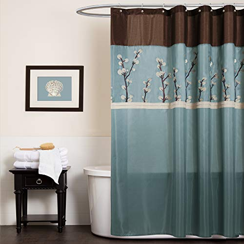 blue and brown shower curtain - 9