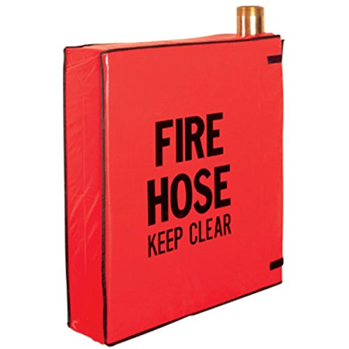 Fire Hose Pin Rack Cover, 21''L x 24''H x 5''W, Red (7 Pack)