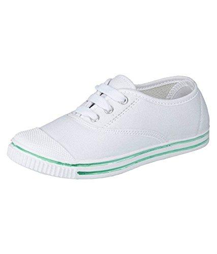 Pollo Boys Canvas White School Shoes