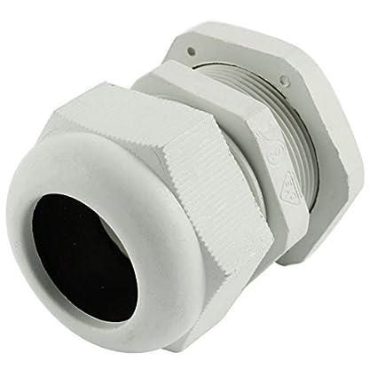 Amazon.com: Plastic PG29 18-25mm fio conector impermeável Cable Gland Branco: Electronics