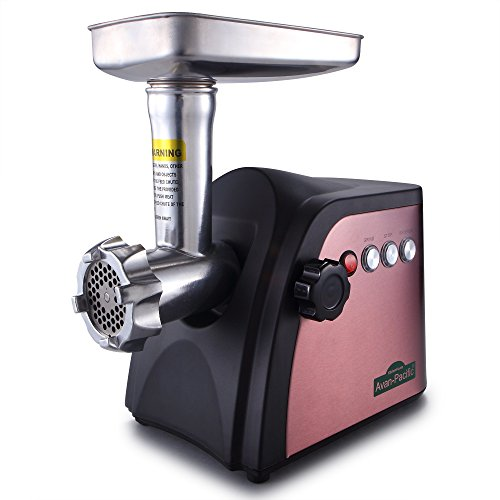 Avan-Pacific UMG-1801 ETL #8 LongLife Durable Electric Digital Light Touch Stainless Steel Meat Grinder with 2 S.S. Knives