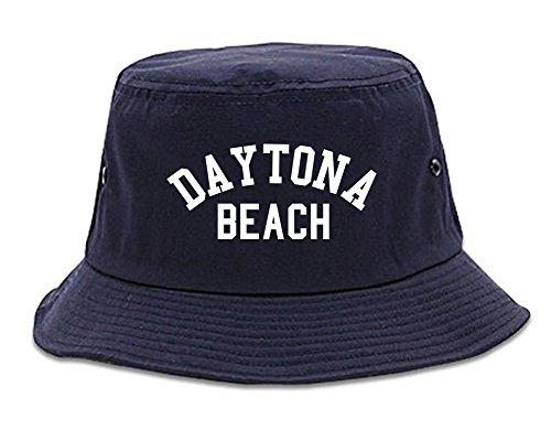 Daytona Beach Florida Bucket Hat Navy Blue