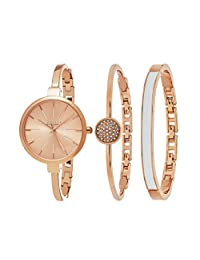 SO & CO New York Women's Madison Ultra Slim Bangle Set Watch