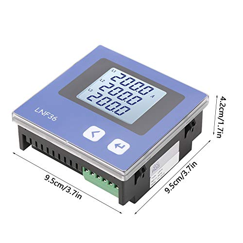 Power Meter Digital Energy Panel Ammeter AC Current Measurement for Control Systems for Industrial Automation(LNF36)
