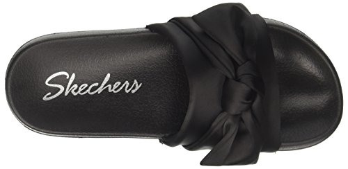 TIED 2ND Slides TAKE Black UP Skechers Women's tRqOFR