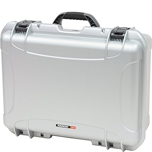 Nanuk 940 Waterproof Hard Case with Padded Dividers - Silver