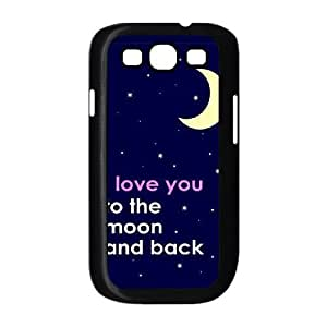 I Love you to the moon and back Image On The Samsung Galaxy s3 9300 Black Cell Phone Case AMW898290