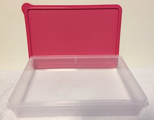 Tupperware Cold Cut Snack-Stor Brownies Cookie Keeper New Hot Pink
