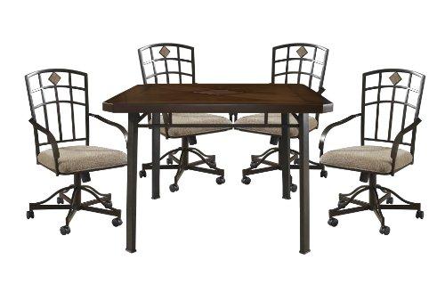 Powell Jefferson Castered Dining Set, 5-Piece