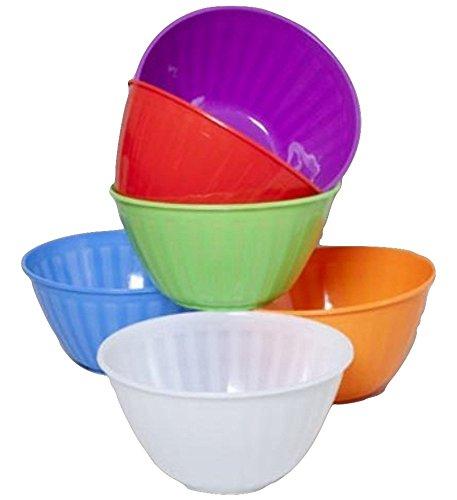 Regent Large Plastic Ribbed Serving Bowl