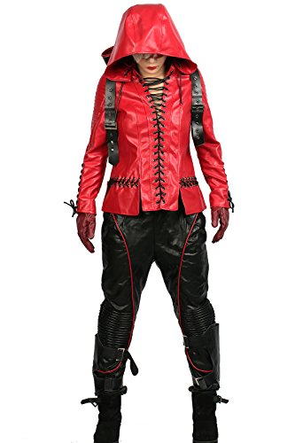 XCOSER Red Arrow Costume Cosplay Outfit Suit for Womens Halloween Clothing XS