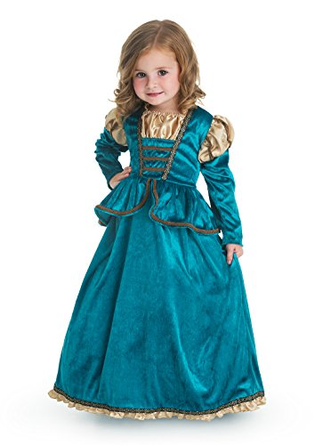 Little Adventures Traditional Scottish Princess Girls Costume - X-Large (7-9 Yrs) - Merida Costume Kids