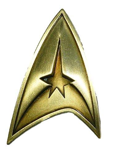 Logo Pin Badge - Star Trek Original TV Series Command Logo Brass Toned Badge Metal Pin