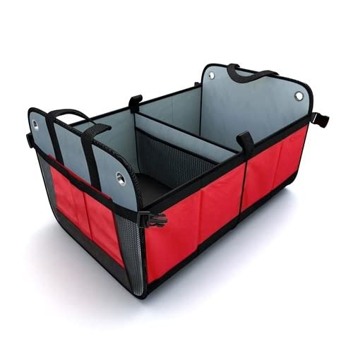 Tidy Globe Premium Heavy Duty Auto Trunk Organizer. Best Cargo Storage for SUV, Cars, Trucks and Minivans, with 3...