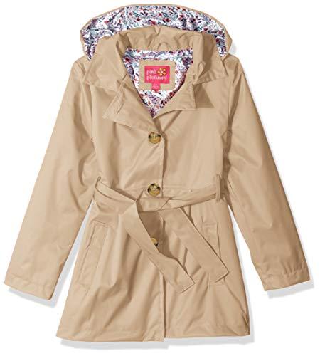 Pink Platinum Girls' Big Trench Coat, Honey 10/12 ()