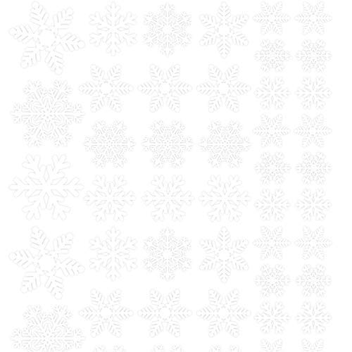 Winter Decals Snowflake Decorations Ornaments Window Clings Decals Stickers MIERES Winter White Snowflakes