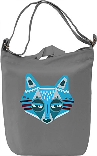 Blue Fox Borsa Giornaliera Canvas Canvas Day Bag| 100% Premium Cotton Canvas| DTG Printing|
