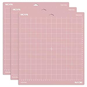 Nicapa FabricGrip Cutting Mat for Cricut Explore Air 2 Maker(12×12 inch,3 Pack) Standard Adhesive Sticky Pink Quilting Cricket Cut Mats Replacement Accessories for Cricut