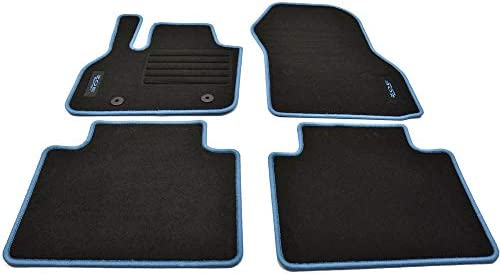 Mattenprofis Velours Logo Fußmatten passend für Renault Zoe II ab Bj.2020 aqua
