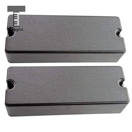 DDV-US - Sealed Closed Type Humbucker Pickup Covers for 5 String Electric Bass 2 Hole (Rhythm Humbucker)