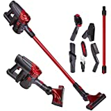 Knox Cordless Vacuum Cleaner 2 Speed Suction Power, Lightweight Upright Stick, Bagless, Rechargeable Battery Pack, Large Canister 6 Attachments for Multi Surface Cleaning
