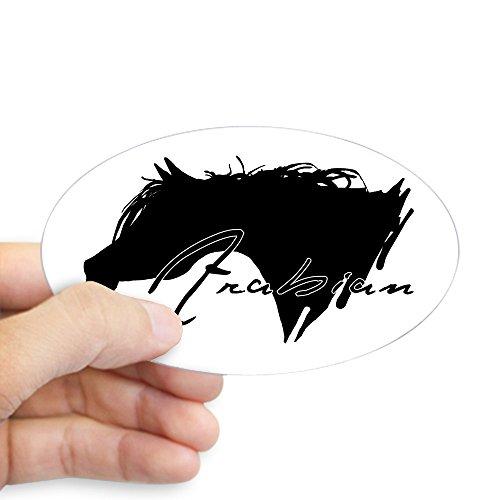 CafePress Arabian Horse Oval Sticker Oval Bumper Sticker, Euro Oval Car Decal