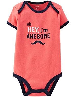 Carter's Slogan Bodysuit (Baby) Pink