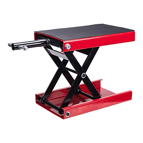 [Dilated] Motorcycle Center Scissor Lift Jack Flat Stand Hoist, Garage Maintenance Repair Tools, with Socket