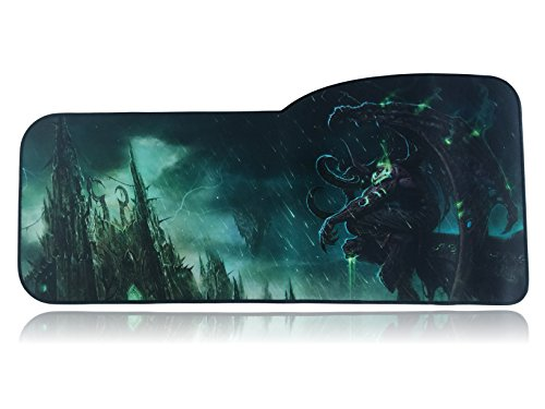 World of Warcraft Extended Size Custom Professional Gaming Mouse Pad - Anti Slip Rubber Base - Stitched Edges - Large Desk Mat - 28.5