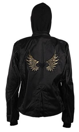 - Womens Textile Hoodie Jacket Gold Wings and Heart (Size 4XL, 4X-Large)