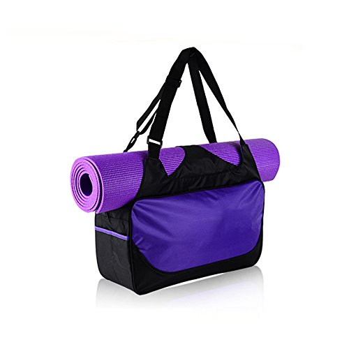 YHOUSE Compact Yoga Mat Bag Gym Duffle Bags with Adjustable Strap, Waterproof Polyester Sports Accessories Carriers