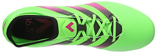 adidas Ace 16.3 Primemesh FG/AG, Botas de Fútbol para Hombre, Verde / Rosa / Negro (Versol / Rosimp / Negbas), 40 2/3 EU