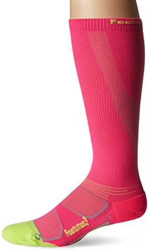 Feetures! Men's Graduated Compression Knee High, Electric Pink, Sock Size:10-13/Shoe Size: 6-12