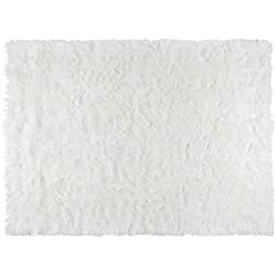"""Softest French White Sheepskin Faux Fur Shag Rug Feels & Looks Real, Without Animal Cruelty. Perfect for Photographers Designers & Your Bedroom Living Room or Nursery 