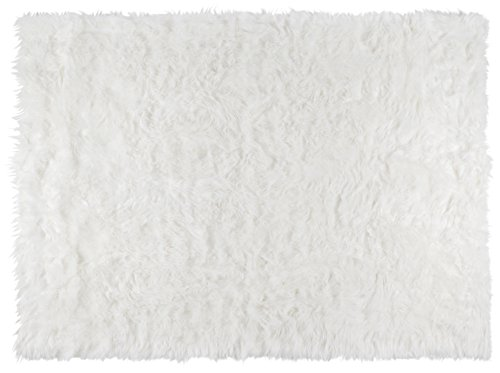 Softest French White Sheepskin Faux Fur Shag Rug Feels & Looks Real, Without Animal Cruelty. Perfect for Photographers Designers & Your Bedroom Living Room or Nursery | Made in France 2x4 (27
