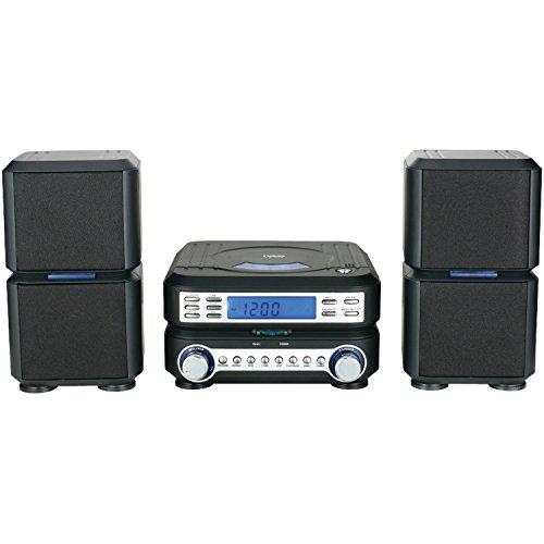 NAXA Electronics NAXA NS-438 Digital CD Micro System with AM/FM Stereo Radio, Black