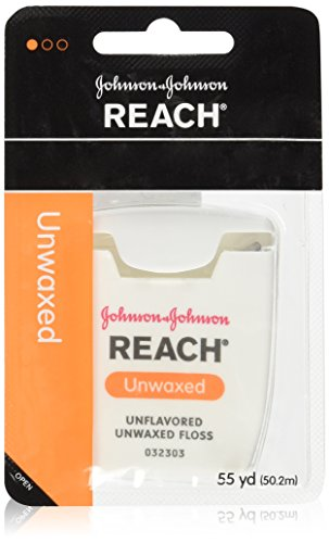 Unflavored Floss Unwaxed Dental Reach - Johnson Johnson Reach Unwaxed Floss Unflavored 55 Yd