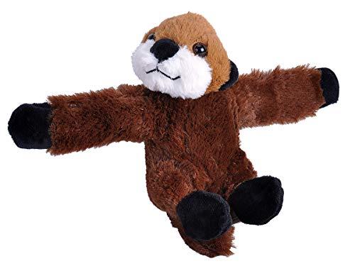 "Wild Republic Huggers Otter Plush Toy, Slap Bracelet, Stuffed Animal, Kids Toys, 8"""