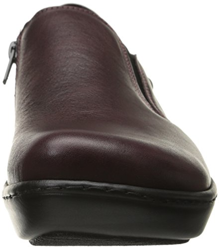 Naot Mujeres Nautilus Flat Shiraz Leather / Violet Nubuck / Reptile Burgundy Leather