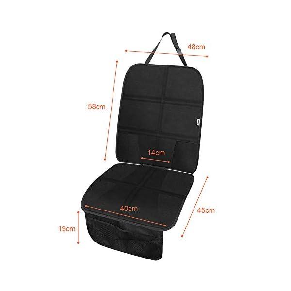 Rovtop 2 Pack Proteggi Sedile Auto, Coprisedile Bambini,per Proteggere la Tappezzeria in Pelle del Veicolo,Adatto per… 3